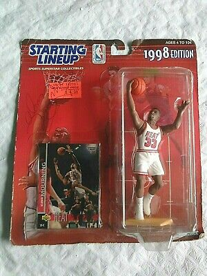 Vint. 1998 Starting Lineup Basketball Alonzo Mourning Heat # 33 Signed Autograph