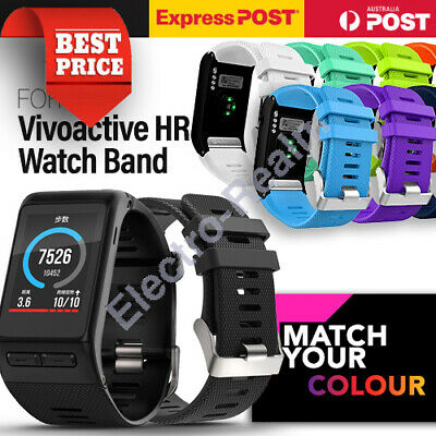 New Replacement Sports Silicone Wrist Watch Band Strap For Garmin Vivoactive HR