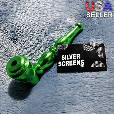 NEW Small Green Stylish Smoking Pipe Tobacco Herb Portable Metal Pocket Size