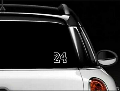 KOBE BRYANT #24 Basketball Vinyl Decal Sticker Car White 3""