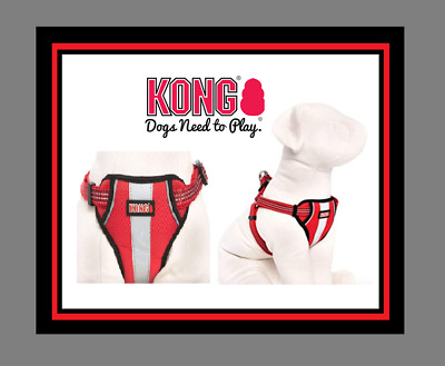 Kong Comfort + Reflective Padded Dog Harness Xl Extra Large Red