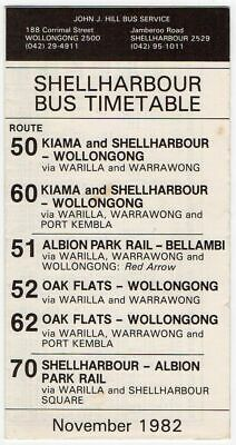 Wollongong Nsw Hill Co 1982 R51B Albion Park Bus Timetable $10