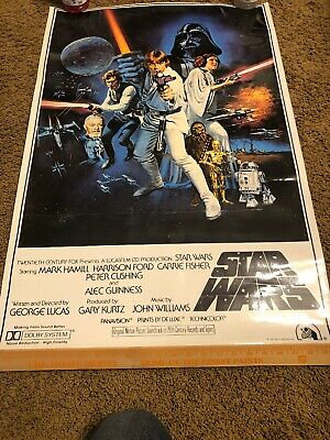 "Style-A George Lucas LAMINATED Movie Poster 27x40/"" Star Wars 1977 A New Hope"
