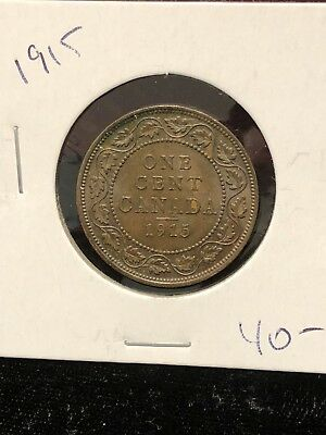 1915 Canada Copper Large Cent Canadian. Nice High Grade