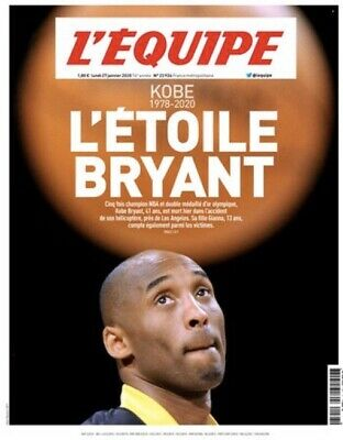 KOBE BRYANT L'ETOILE HOMMAGE NBA Basket Ball Lakers Joural L'equipe