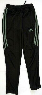 Adidas Climacool Tiro 17 Black/Green Tapered Joggers Youth Boys  Size Small