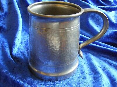 Stunning Hammered Vintage Liberty & Co Tudric Pewter ware 1 pint Tankard 5032