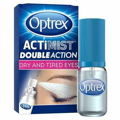 Optrex ActiMist Double action 2 in 1 Eye Spray 10ml for dry & tired eyes UNBOXED