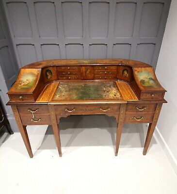 A very beautiful all over satinwood painted Carlton house desk
