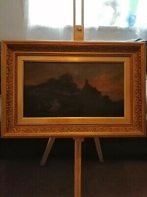 Early 19th Century Antique Original Oil Signed Picture