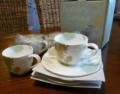 Aynsley Living Cambridge China tea cup and saucer set, boxed