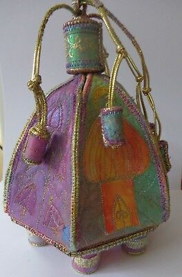 Glitzy domed Casket Textile art kit all fabrics and instructions included