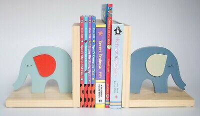 Vilac ELMER BOOK ENDS Baby//Toddler//Child Wooden Shelf Nursery Accessory BN