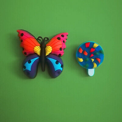 2pcs / HQ PVC Shoe Charms - Butterfly Sweet - Similar to Jibbitz and fits Crocs