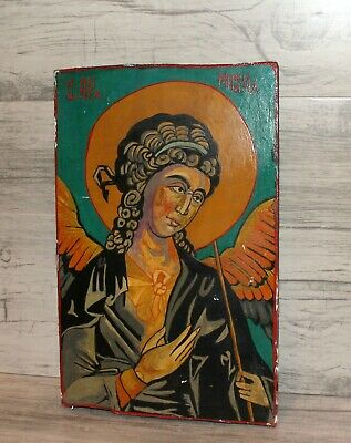 Archangel Michael Vintage Orthodox hand painted icon