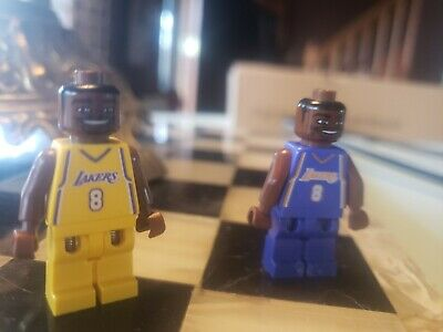 RARE AUTHENTIC Lego NBA Basketball Minifigure KOBE BRYANT 8 Home & Away Jersey