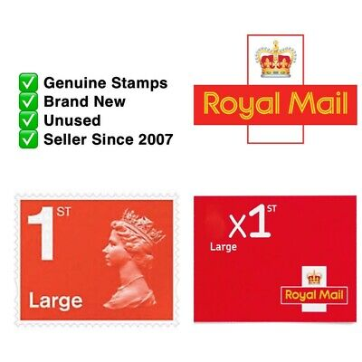 First Class LARGE LETTER Stamps Royal Mail ✔️Self Adhesive ✔️Genuine ✔️Brand New