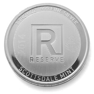 "2014 - 1 oz silver  ""RESERVE"" - SCOTTSDALE MINT COIN - .999 FINE SILVER - 4 LEFT"