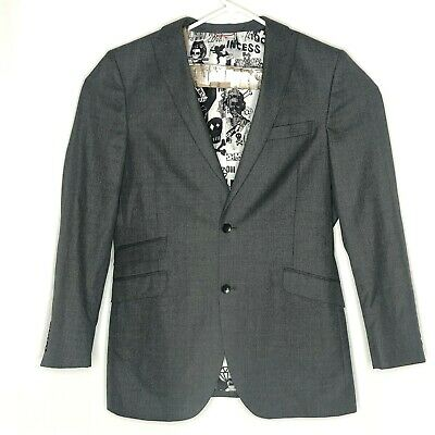 Billy London UK Mens Jacket Suit Separate 40L Gray Two Button Style  BL24-0