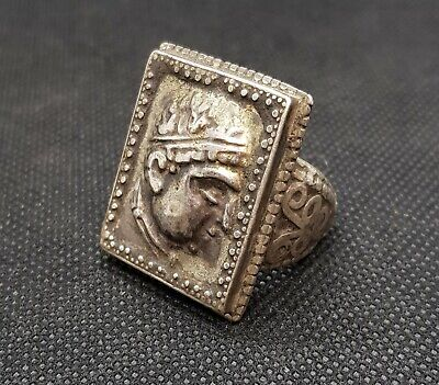 Very Old Greek Empire King Coin Very Rare Antique 2000 years Old Wonderful Ring