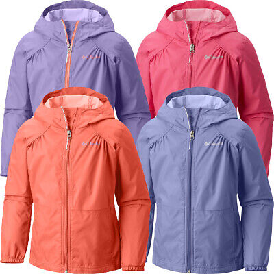 "New Girls Columbia ""Access Point"" Waterproof Hooded Rain Jacket"