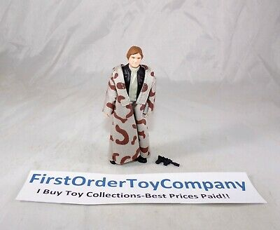 Vintage Star Wars 1983 Han Solo Endor Trench Coat Loose Figure COMPLETE C-9+