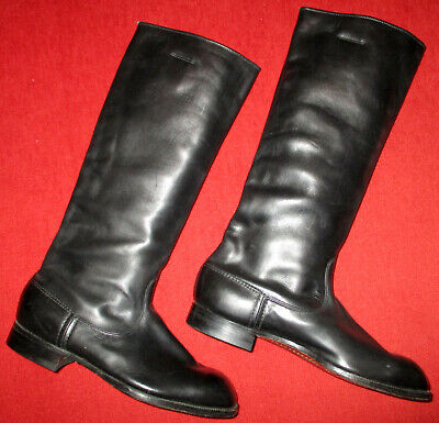 Vintage 1950s East German Soviet army officer leather marching boots jackboots