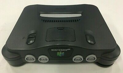 Nintendo 64 N64 Black Gaming Console w/ Jumper Pak - (CONSOLE ONLY)  Authentic