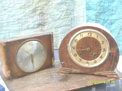 Clock Parts 2 Mantel  Clocks  Spares To  Repairs  One Striking For Tidy Up