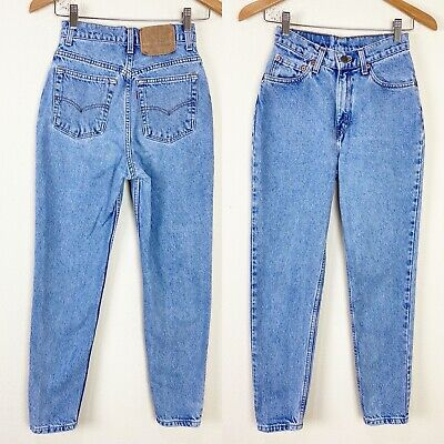 VTG 90s LEVIS 512 High Waist Mom Jeans 23x28 ACTUAL Slim Fit Tapered Leg 5 RARE