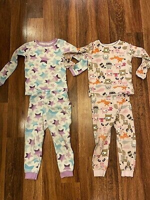 Lot of 2 Pairs of Toddler Girls Thermal PJ's