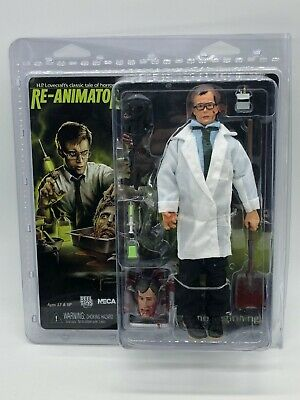"HERBERT WEST Re-Animator Movie 8"" inch Clothed Action Figure Neca 2018 Brand New"