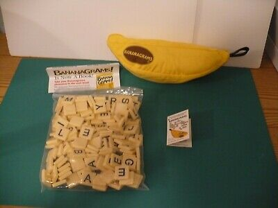 Bananagrams Word Tile Game Fast Fun Travel Game Complete with Instructions