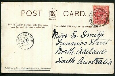GB 1905 PPC to Adelaide, South Australia with very fine 19050 'SIX.MILE.BOTTOM'