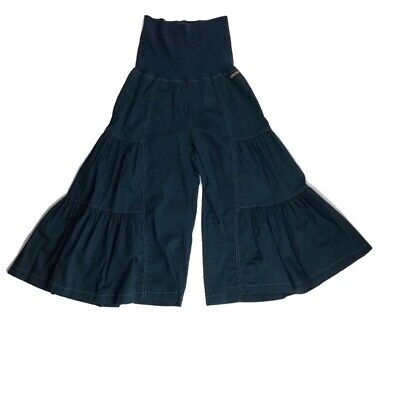 Matilda Jane Womens Small Follow the Leader Finn Cropped Wide Leg Pant Teal Blue