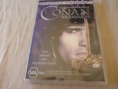 Conan The Barbarian (DVD, 2002) Region 4  Arnold Schwarzenegger