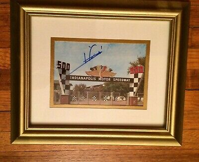Mario Andretti Autographed / Signed Indianapolis Motor Speedway Photo  1995