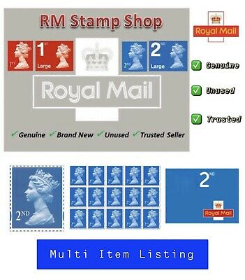 Royal Mail Second Class Stamps ✔️ Self Adhesive ✔️Genuine✔️ Brand New ✔️UK Based