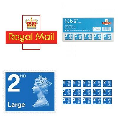 Royal Mail Second Class LARGE LETTER Stamps Self Adhesive 100% Brand New/Genuine