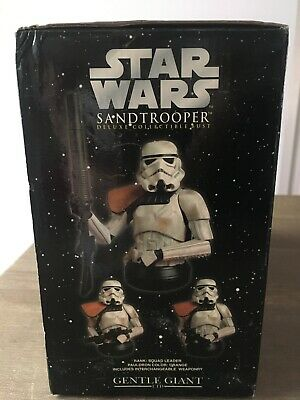 Star Wars Deluxe Sandtrooper Squad Leader Bust Gentle Giant Collectible