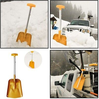 Lightweight Collapsible Snow Shovel, Portable Adjustable Aluminum Emergency D1M9