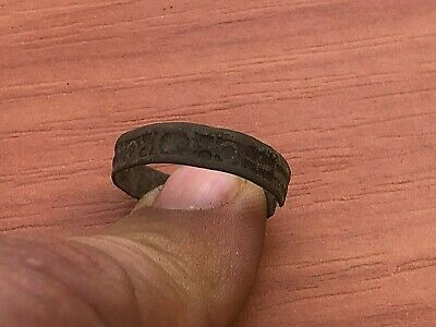 Ancient Celtic Bronze Wedding Ring Circa 100 BC - 200 AD Very Rare