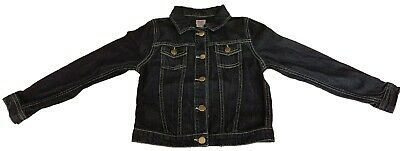 Girls F & F Dark Blue Denim Jacket With Metal Buttons Age 8-9 and 11-12