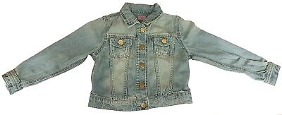 Girls F & F Stonewash Denim Jacket Metal Buttons Age 5-6,7-8,9-10,10-11 & 11-12
