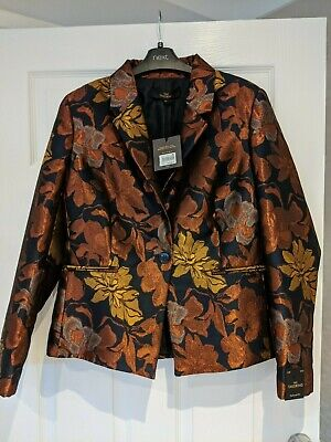 Next tailored ladies jacket, bronze and gold metallic colours, size 14,  NEW