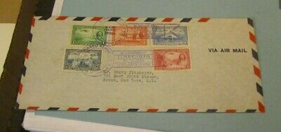 Vintage 1931 Postal Airmail Cover Managua Nicaragua to New York Will Rogers