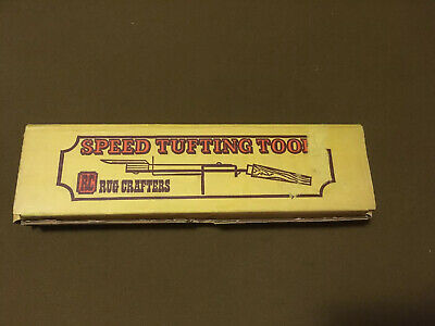 Vintage Rug Crafters Speed Tufting Tool in Original Box With Instructions