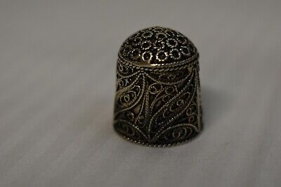 Antique/Vintage Sterling Silver Thimble Circa Unknown