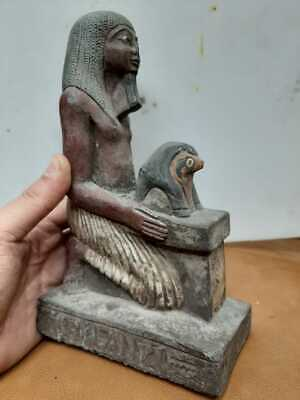 Rare ANCIENT EGYPTIAN STATUE ANTIQUES Horemheb Horus Gods Sculpture 3150 BC