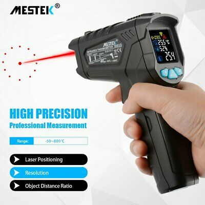 MESTEK Digital Infrared Thermometer Laser Temperature Gun Colorful LCD Humidity